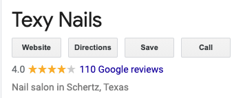 texy nails in scherts google reviews
